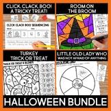Pumpkins and Halloween Read Aloud Book Activities Bundle