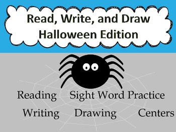 Halloween Read, Draw, and Write