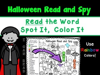 Halloween Read, Spot It, and Color It
