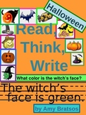Halloween Read, Think, Write for Primary Grades-Sentence Writing Practice