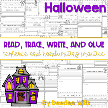 Halloween Read, Trace, Glue, and Draw