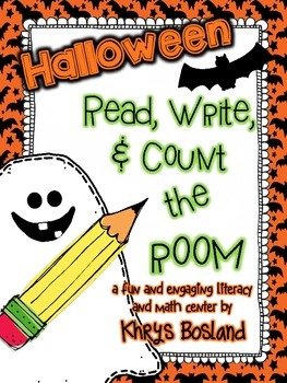 Halloween Read, Write, and Count the Room {Literacy and Math} {CCSS}