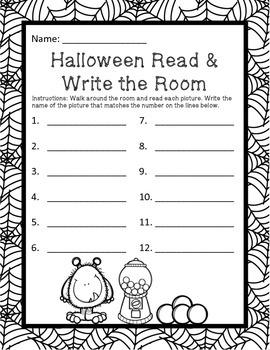 Halloween Read & Write the Room