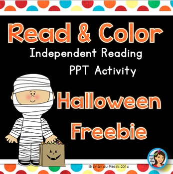 Free Halloween Read and Color PowerPoint