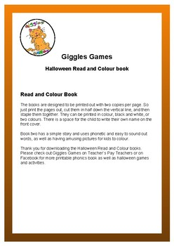 Halloween Read and Colour Book