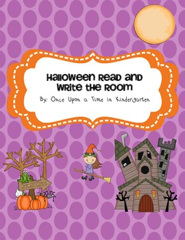 Halloween Read and Write the Room
