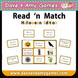 Halloween Read 'n Match