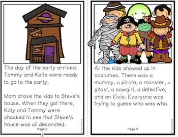 Halloween Reader: Holiday Series- The Costume Party  {Transitional Reader}