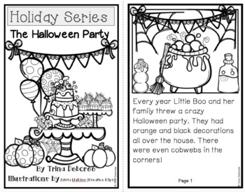 Halloween Reader: Holiday Series- The Halloween Party  {Transitional Reader}