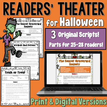 Halloween Readers' Theater: A set of 3 scripts