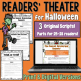 Halloween Readers' Theater: 3 scripts | PDF and Digital | Distance Learning