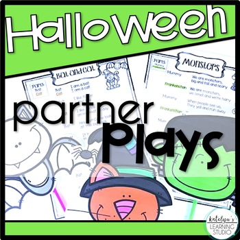 Halloween Readers Theater Partner Plays Poems for Grade 1, 2, and 3