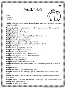 Halloween Reader's Theater Scripts: Partner Plays for Two ...
