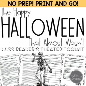 Halloween Reader's Theater & Reading Literature Toolkit for Grades 4-8