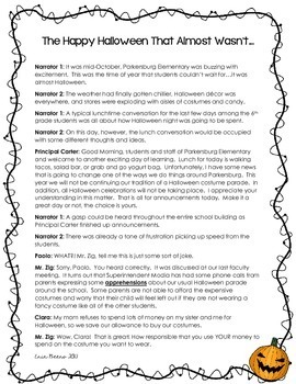 Halloween Reader's Theater & Reading Literature Toolkit for Grades 4-8