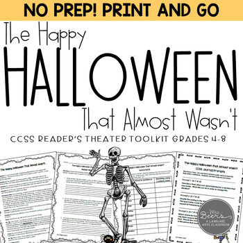 Halloween Reader's Theater & Reading Literature Toolkit fo