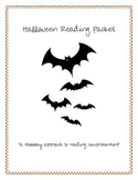 "Halloween Reading Activities- A ""Spooookkky"" Activity Packet"