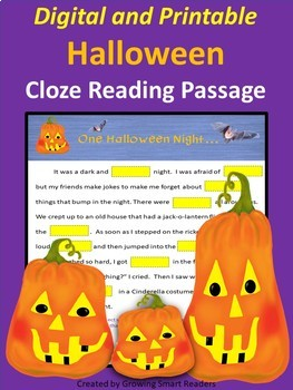 Halloween Reading Activity (Digital & Printable)
