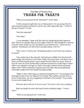 Halloween Reading Activity-Make Inferences to Solve the Mystery!