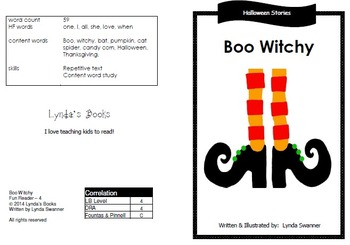 Halloween Reading Books & Vocabulary Cards