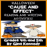 Halloween Reading Cause and Effect Writing Activities!