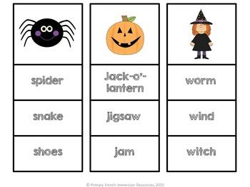 Halloween Reading Centre Game - English