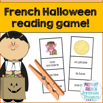 Halloween Reading Centre Game - French