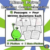 Aliens Reading Comprehension, Halloween Passages, October Reading, Alien Passage