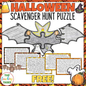 Halloween Reading Comprehension Activity FREE