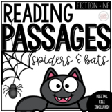 Halloween Reading Comprehension | October Spiders and Bats