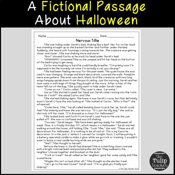 Halloween Reading Comprehension Paired Passages