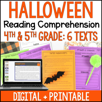 Halloween Reading Comprehension Passages and Activities {Just Print}