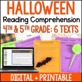 Halloween Reading Comprehension Passages - Digital Halloween Reading Activities