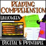 Halloween Reading Comprehension | Digital Halloween Readin