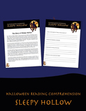 Halloween Reading Comprehension: Sleepy Hollow