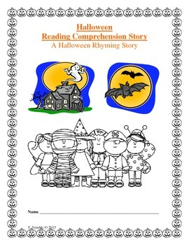 Halloween Rhyming Comprehension Story