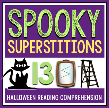 HALLOWEEN READING COMPREHENSION - SUPERSTITIONS