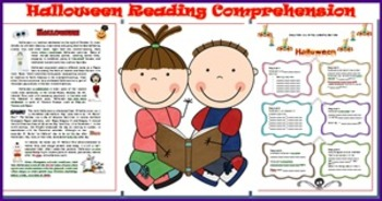 Halloween  Reading Comprehension Test