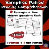 Vampires Reading Comprehension, Halloween Passages, October Passages