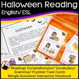 Halloween Reading, Comprehension, Vocabulary, Grammar & Puzzles