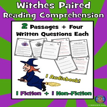 Witches Reading Comprehension: Witches: Halloween Reading: Scary Reading