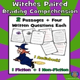 Witches Reading Comprehension, Halloween Passages, Witch Passages, Scary Reading