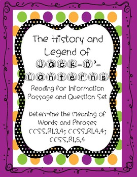 Halloween Reading Comprehension Word Meaning Informational Text Practice Passage