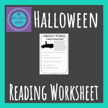 Halloween Reading Comprehension Worksheet