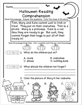 Halloween Reading Comprehension and Activity Packet