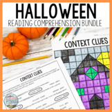 Halloween Reading Comprehension and Context Clues Bundle