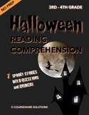 Distance Learning - Halloween Reading Comprehension for 3rd & 4th Grade