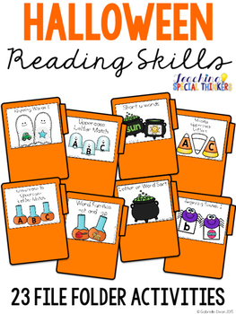 Halloween Reading File Folders