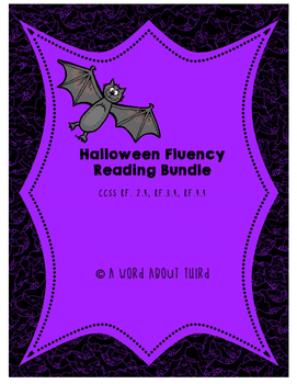 Halloween Reading Fluency Bundle