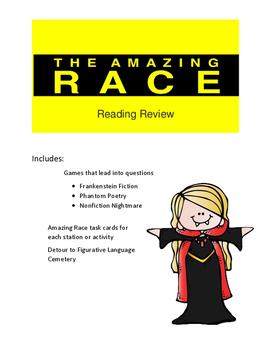 Halloween Reading Game Amazing Race Theme